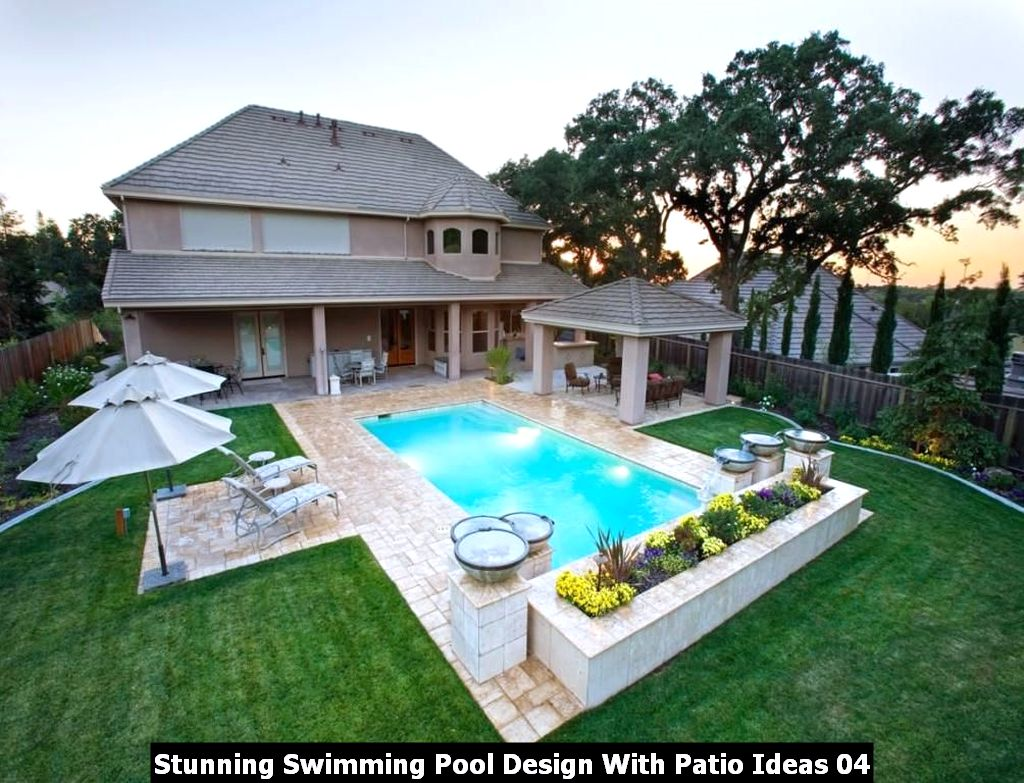 Stunning Swimming Pool Design With Patio Ideas 04