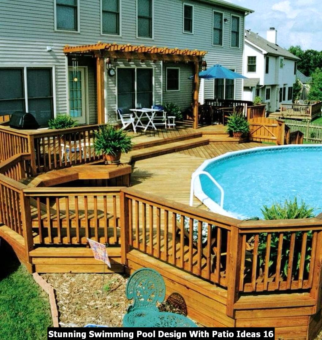 Stunning Swimming Pool Design With Patio Ideas 16