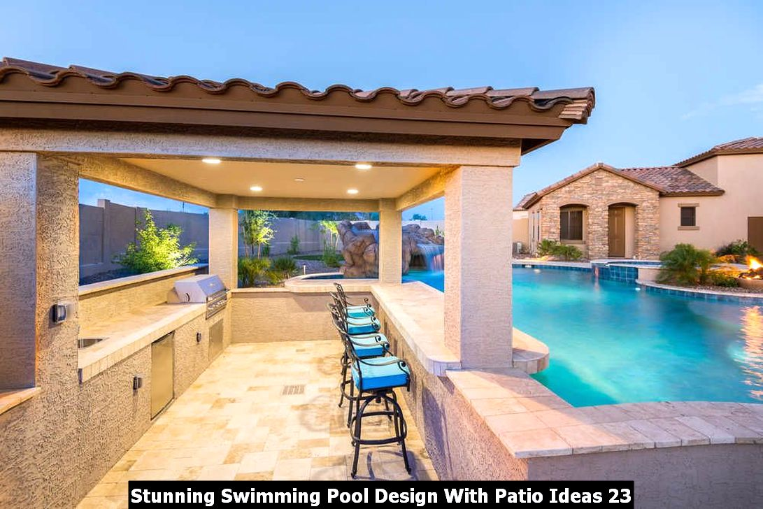 Stunning Swimming Pool Design With Patio Ideas 23