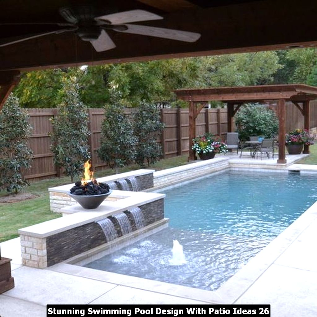 Stunning Swimming Pool Design With Patio Ideas 26