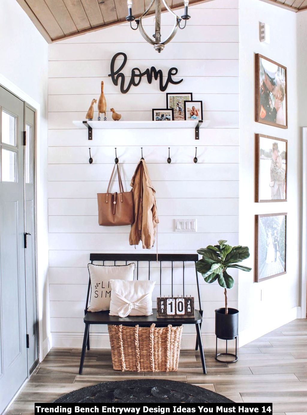 Trending Bench Entryway Design Ideas You Must Have 14