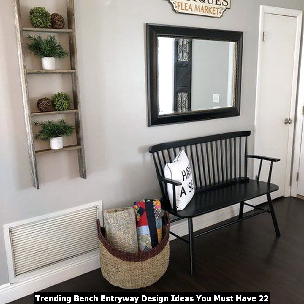 Trending Bench Entryway Design Ideas You Must Have 22
