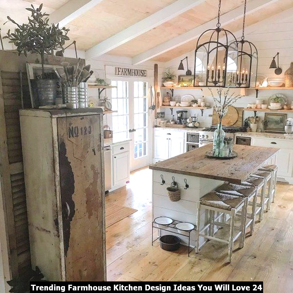 Trending Farmhouse Kitchen Design Ideas You Will Love 24