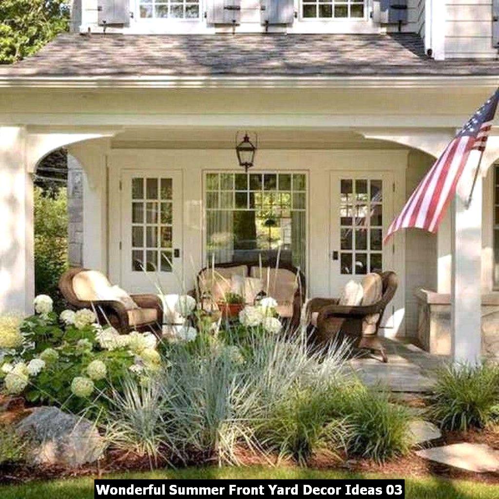 Wonderful Summer Front Yard Decor Ideas 03