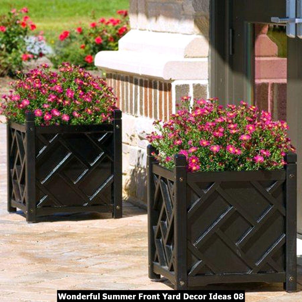 Wonderful Summer Front Yard Decor Ideas 08
