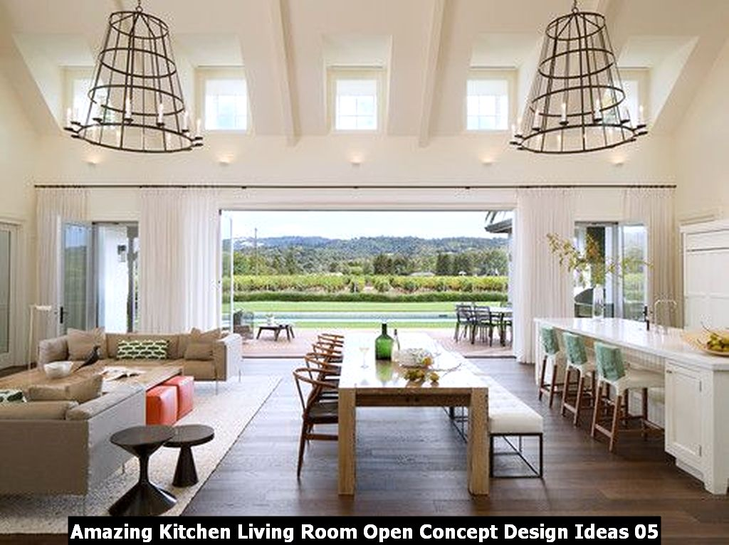 Amazing Kitchen Living Room Open Concept Design Ideas 05