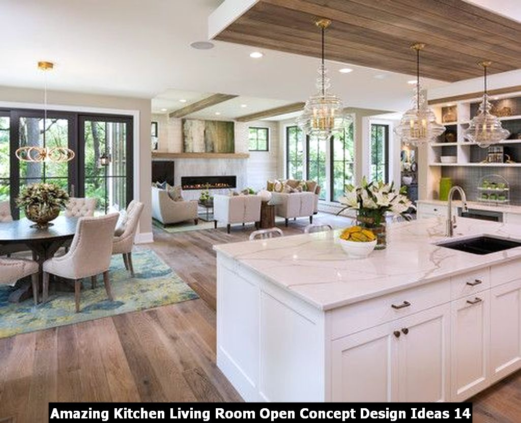 Amazing Kitchen Living Room Open Concept Design Ideas 14