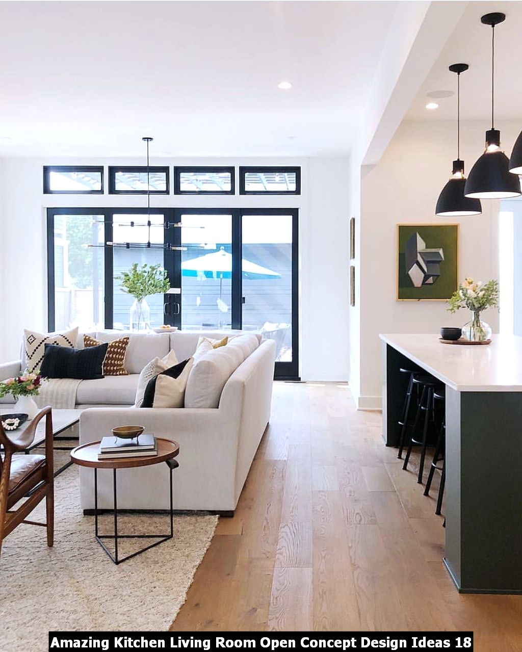 Amazing Kitchen Living Room Open Concept Design Ideas 18