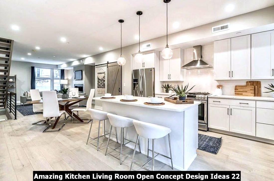 Amazing Kitchen Living Room Open Concept Design Ideas 22