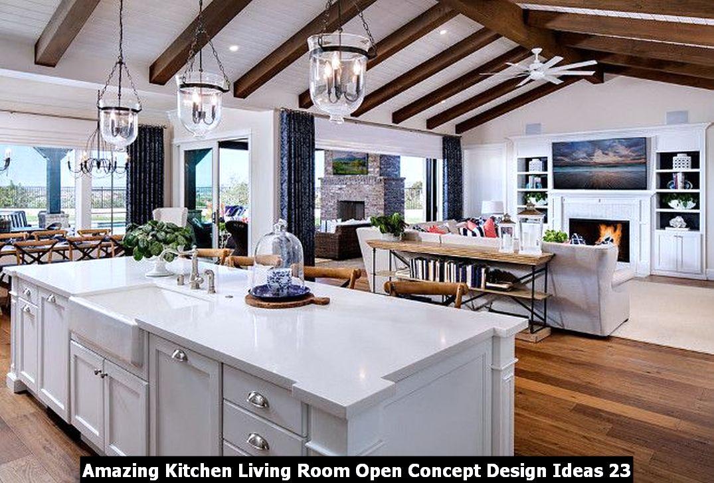 Amazing Kitchen Living Room Open Concept Design Ideas 23