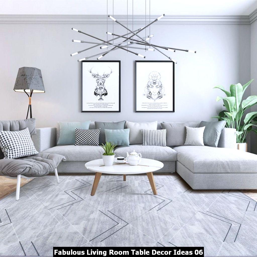 Fabulous Living Room Table Decor Ideas 06