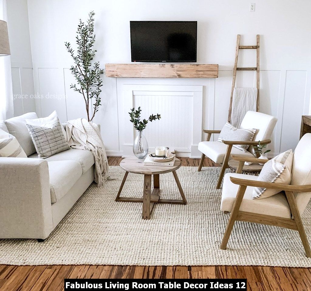 Fabulous Living Room Table Decor Ideas 12