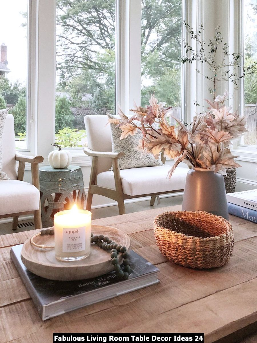 Fabulous Living Room Table Decor Ideas 24