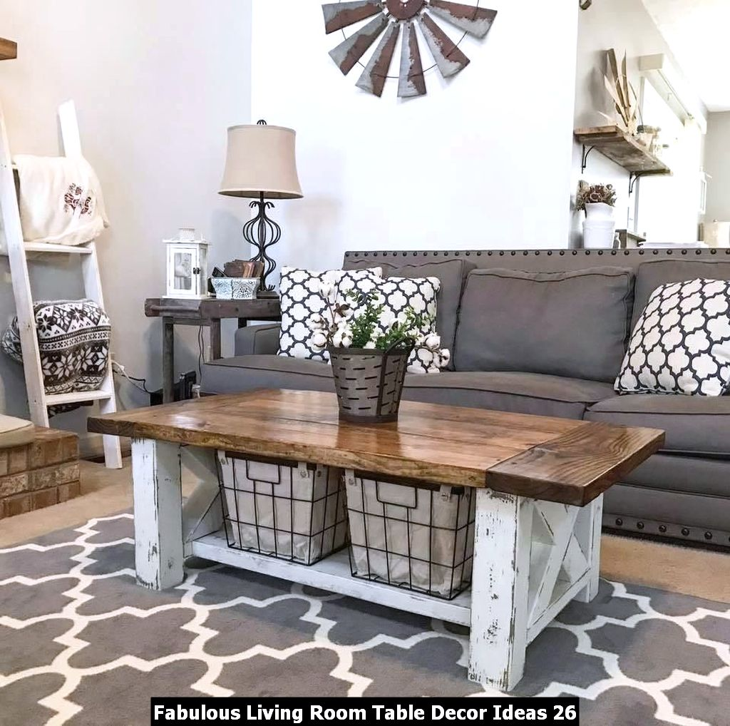 Fabulous Living Room Table Decor Ideas 26