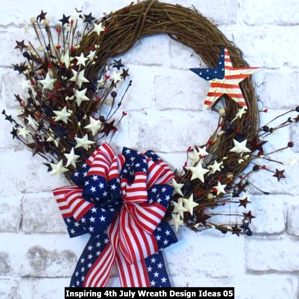 Inspiring 4th July Wreath Design Ideas 05