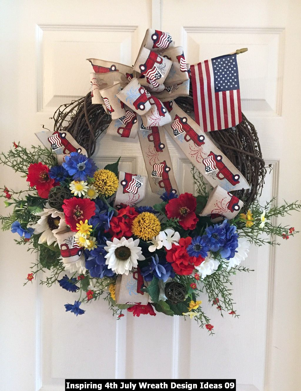 Inspiring 4th July Wreath Design Ideas 09