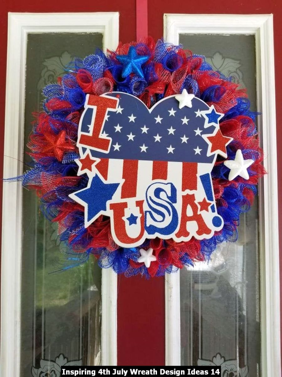 Inspiring 4th July Wreath Design Ideas 14