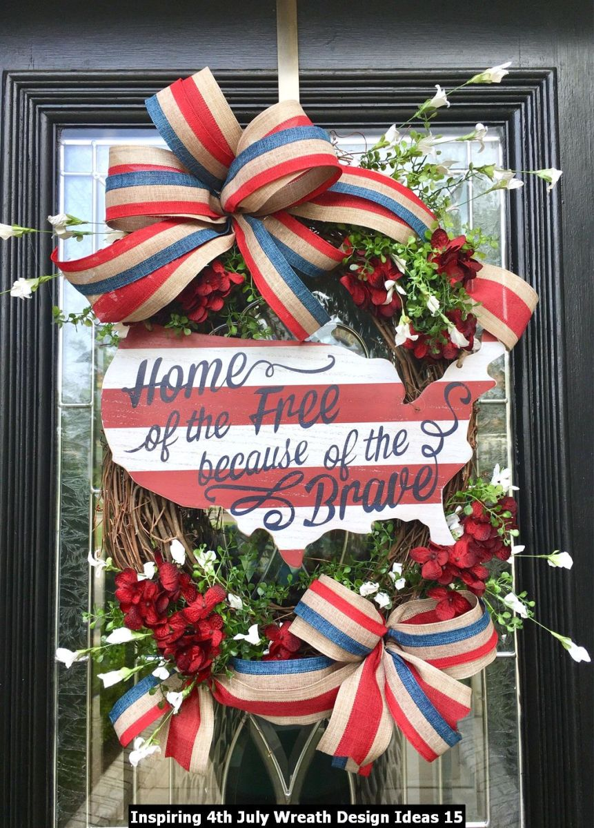 Inspiring 4th July Wreath Design Ideas 15