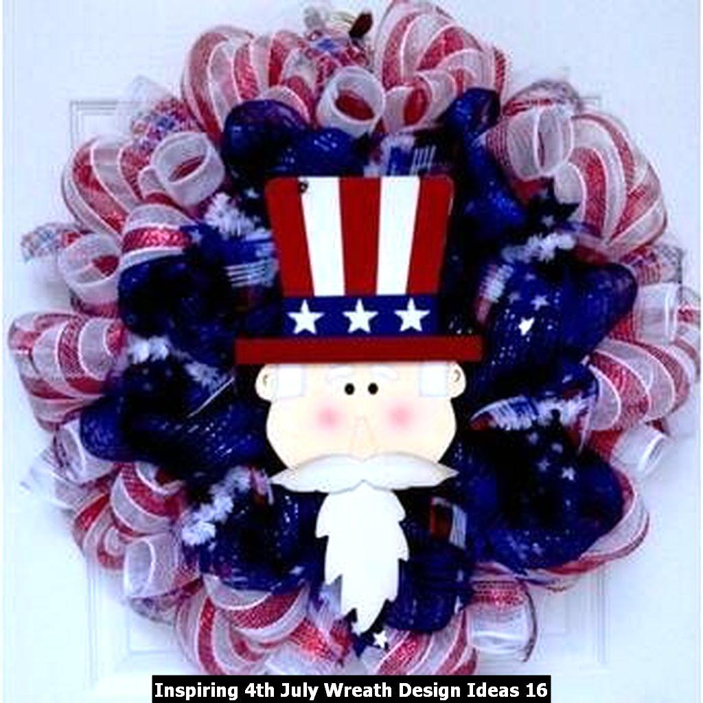 Inspiring 4th July Wreath Design Ideas 16