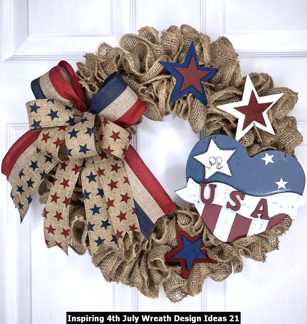 Inspiring 4th July Wreath Design Ideas 21