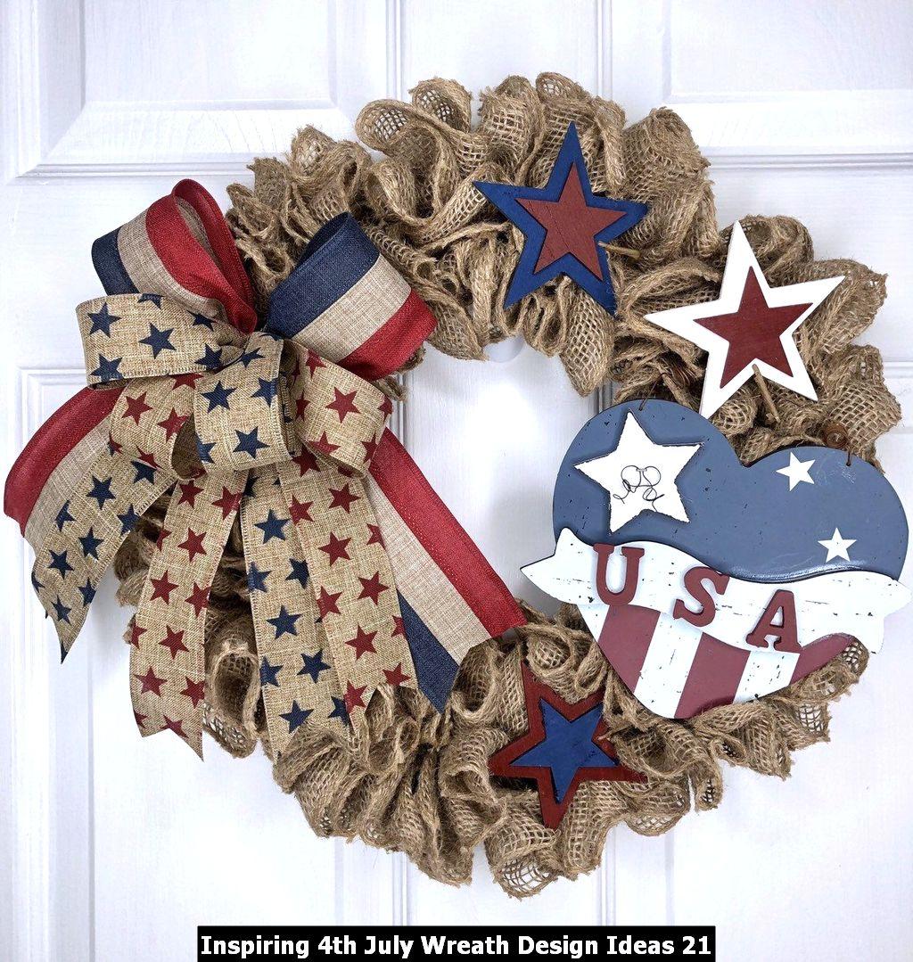 Inspiring 4th July Wreath Design Ideas 21