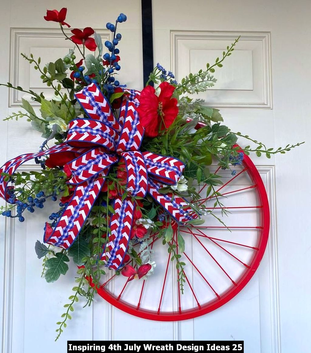 Inspiring 4th July Wreath Design Ideas 25
