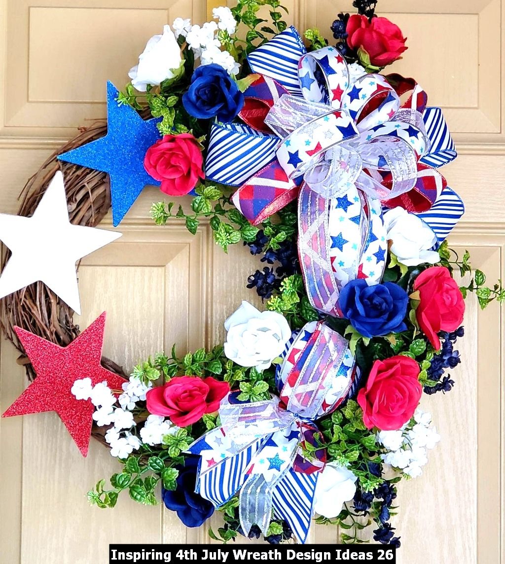 Inspiring 4th July Wreath Design Ideas 26