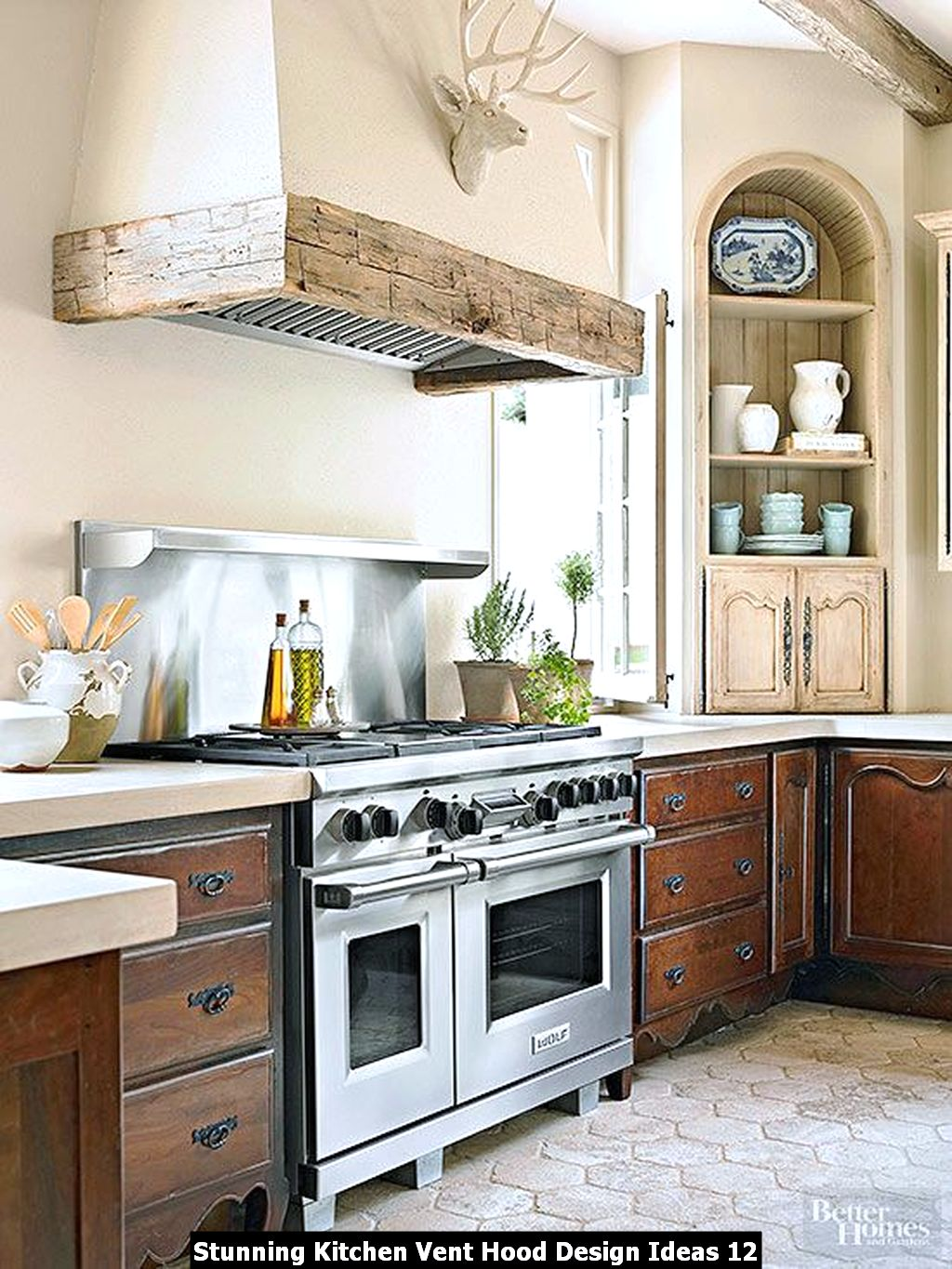 Stunning Kitchen Vent Hood Design Ideas 12