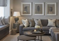 Beige And Gray Living Room