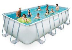 Summer Waves Elite Metal Frame Swimming Pool Package