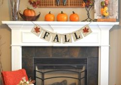 Fireplace Mantel Fall Decorating Ideas