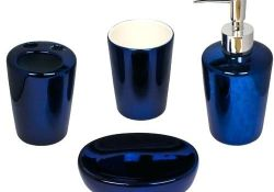 Blue Bathroom Set