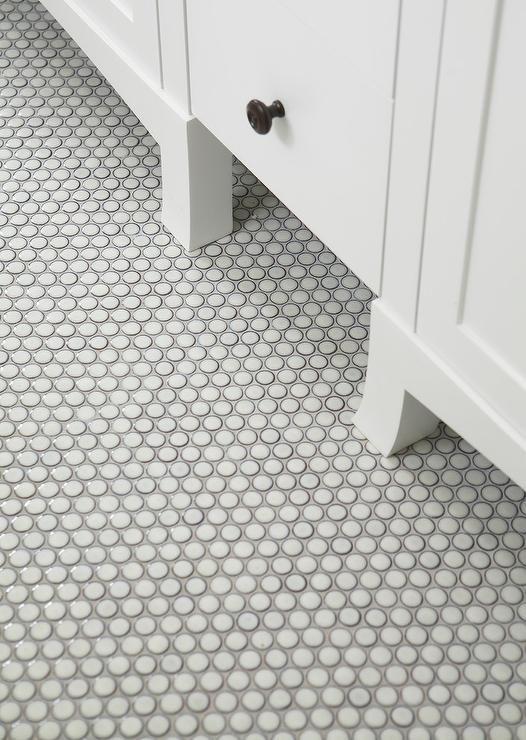 Penny Tile Bathroom Floor