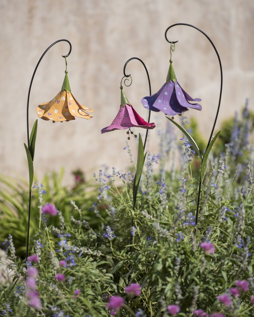 Decorative Metal Garden Stakes