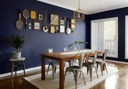 Navy Dining Room