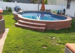 Small Backyard Semi Inground Pool