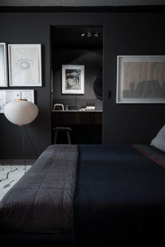Black Painted Bedroom
