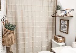 Farmhouse Bathroom Shower Curtain