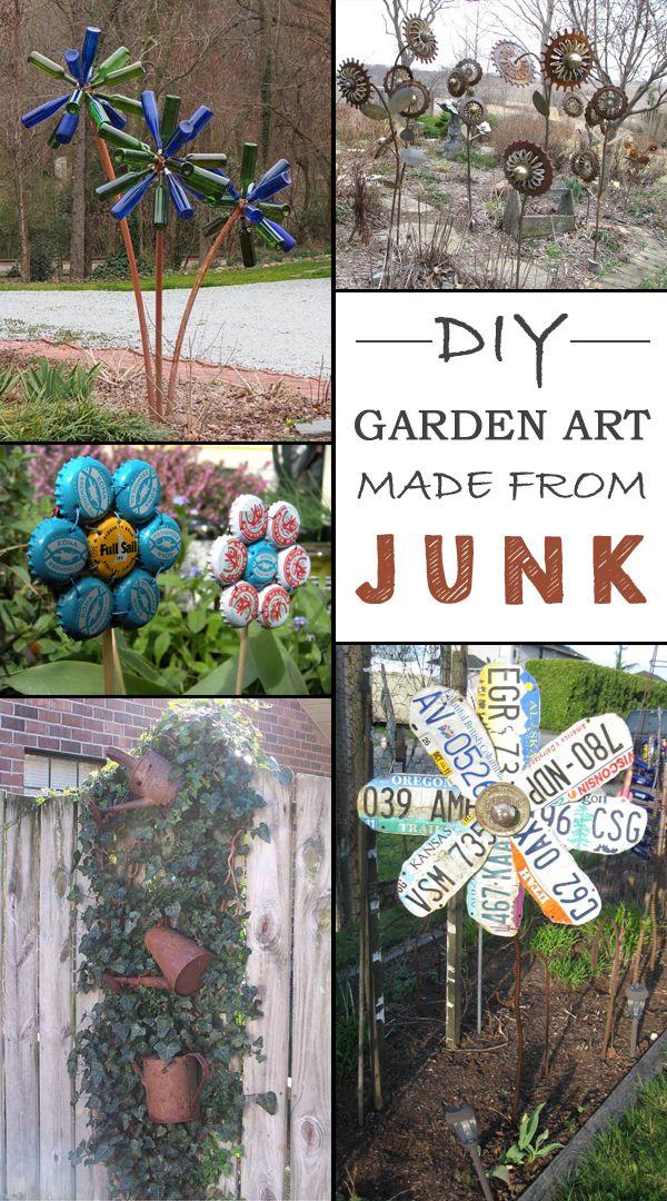 Garden Decorations From Junk