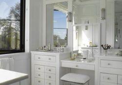Bathroom Vanity With Makeup Area
