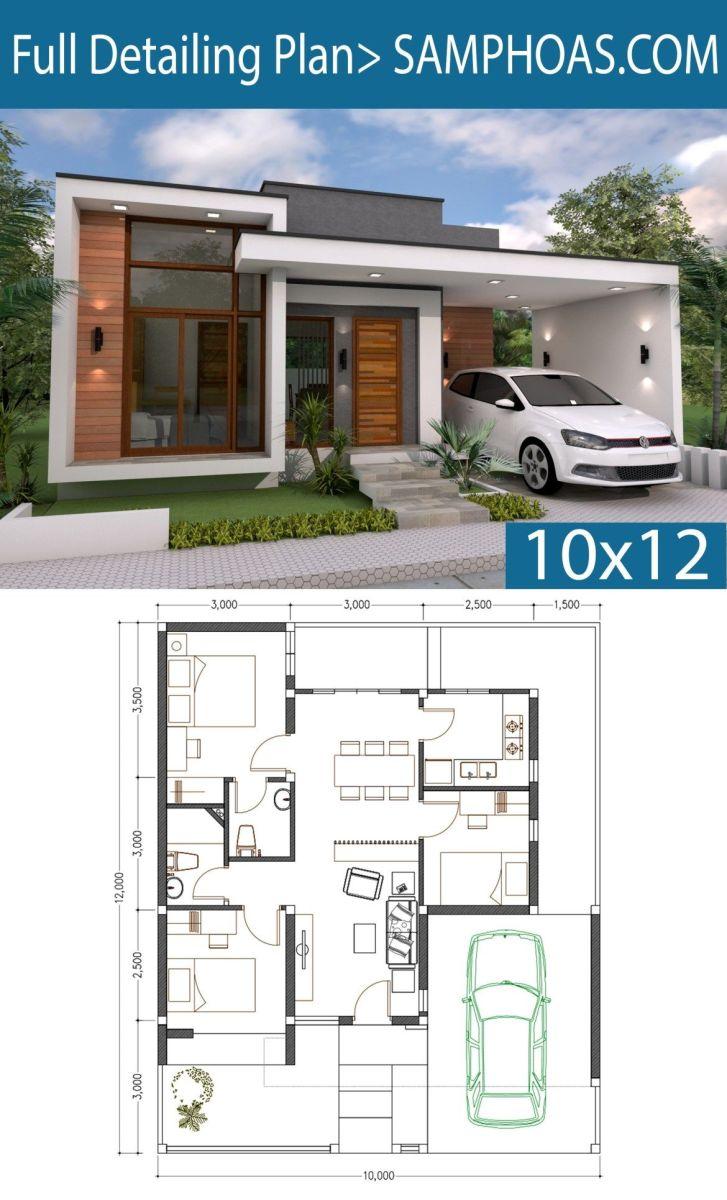 3 Bedroom Modern House Plans