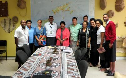 Visiting the Institute of Fijian Language & Culture, Ministry of iTaukei Affairs, photo by Molly Rangiwai McHale