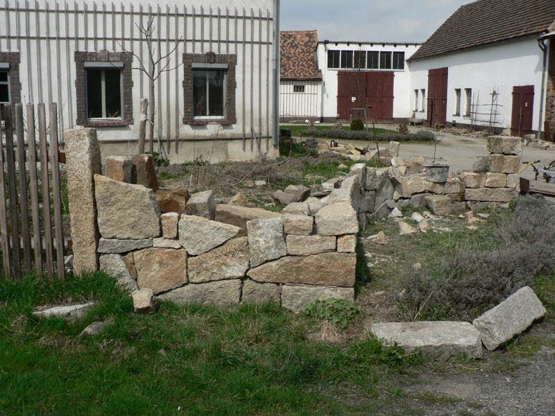 Mauer Naturstein Granit Selber Bauen 23 Pimp My Bauernhof