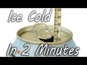Comment rafraichir une cannette de coca ou de bière rapidement en 2 minutes