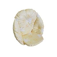 Babies R Us - Coussin de chaise oursons jaune CONFORME AUX EXIGENCES DE SECURITE. Notre Coussin de chaise est garni de flocons de mousse de Polyéther. De ce fait