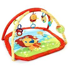 Bright Starts - Tapis d'éveil - Lion Grande aire de jeux matelassée et ses jouets amusants pour enchanter bébé pendant la récréation!Caractéristiques : jouet en peluche facile à atteindre