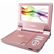 Cutis - Lecteur DVD portable rose Lecteur DVD