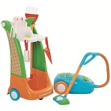 Just Like Home - Chariot Ménage + Aspirateur à fonctions Trouve tout ce qu'il te faut pour mettre de l'ordre et aide à faire le ménage avec ce merveilleux ensemble de ménage! Contient : chariot