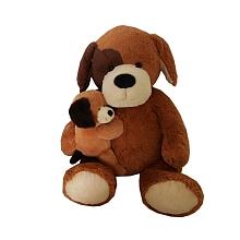 toys' r us Animal Alley - Peluche Maman et bébé - Chien - 55 cm