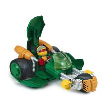 Véhicule de luxe + Figurine 6 cm - Tortues Ninja - Raphaello Véhicule avec son et un personnage de 6 cm.Utilise la fonction spéciale du véhicule pour revivre les aventures de tes héros.Chaque véhicule a une fonction spéciale...Véhicule adapté pour les jeunes enfants.